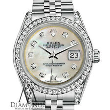 Rolex Datejust 36mm Stainless Steel White MOP Mother Of Pearl Diamond Dial Watch
