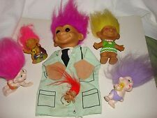 Lot Mixed Trolls - Russ Doctor Puppet Troll Magic Applause Trolls and Troll Ring