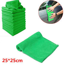 10x Green Microfiber Cleaning Auto Car Detailing Soft Cloths Wash Towel Duster~