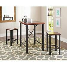 Dinette Sets For Small Spaces Pub Table Set 3 Piece Kitchen Furniture Chairs
