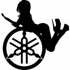 YAMAHA Girl Aufkleber Window Bumper Laptop Sticker Vinil Decal 112