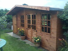 20 x 10  Wooden Chalet style Summerhouse & Shed combi