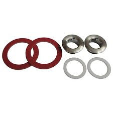 Kinetic SCREW IN TAP SEATS 12mm 2 Pcs Stainless Steel, Fibre Washers & O Rings
