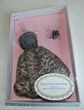 PAINTBOX DESIGNS GRAY GOLD DRESS WITH LACE OVERLAY FITS SILKSTONE BARBIE