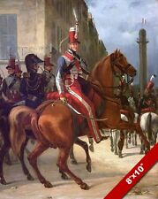 DUKE OF CHARTES IN UNIFORM HORSE PAINTING FRENCH HISTORY ART REAL CANVAS PRINT