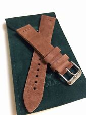 20mm Genuine Leather Watch Band Strap Suede Handmade fits Rolex Tudor Sub All!