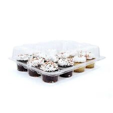 10 pcs 12 Cupcake Cake Case Muffin Holder Box Container Carrier  Plastic 120
