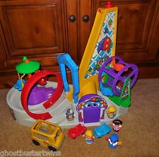 FISHER PRICE LITTLE PEOPLE RIDE CARNIVAL AMUSEMENT ROLLERCOASTER PARK PLAYSET