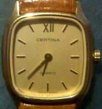 Original Certina lady's watch Quartz 20x25mm Yellow GoldPlated NEW !