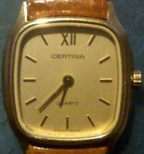 Original Certina lady's watch Quartz 20x25mm Yellow GoldPlated NEW !