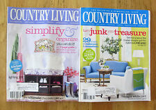Country Living magazines 2005 January and February two 2 lot home garden English