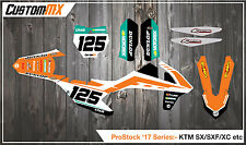 KTM 2016-2017 SX SXF EXC MOTOCROSS Graphics Kit 85 125 150 250 450 DECALS