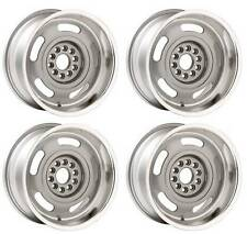 "Corvette Rally Wheels 17x9 17"" SET of 4 Silver Powdercoated 5"" Backspacing GM"