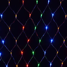 120 LED Net Mesh Fairy String Light Xmas Curtain Lights Party Wedding Decor 220V