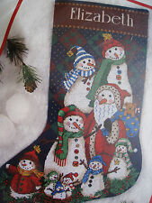 Dimensions Christmas Counted Cross Holiday Stocking Craft Kit,SNOW BUNCH,#8574
