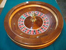 27 Inch Solid Mahogany Roulette Wheel (Made in the USA)