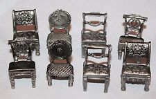 Prime Way Companies Ltd. Pewter Dining Chair Place Card Holders Set of 8