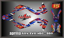 Aprilia RXV SXV 450-550 SEMI CUSTOM GRAPHICS KIT APRO3