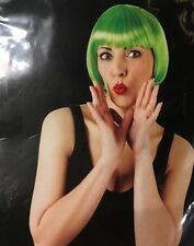 Green Bob Wig Ideal For Halloween Or Christmas