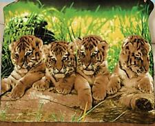 "Tiger Cubs in the forest Animal Fleece Throw Wildlife Bed Blanket 60"" X 50"" New"