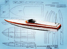Build a RADIO CONTROL Electric MODEL RACING BOAT NOTES & Full Size Printed PLANS