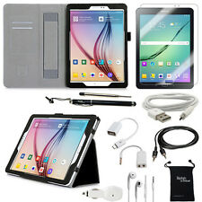 10-Item Accessory Bundle for Samsung Galaxy Tab S2 9.7 Inch - Case and Chargers