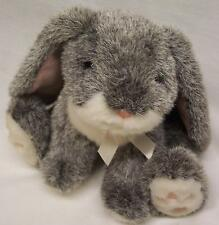 """RUSS VINTAGE BOUNCY THE LOP LONG EARED GRAY BUNNY 7"""" Plush STUFFED ANIMAL Toy"""