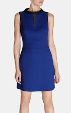 NEW + KAREN MILLEN + COLOURFUL TAILORED DRESS + SIZE + UK 12