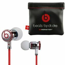 GENUINE MONSTERBEATS BY DR DRE IBEATS IN EAR HEADPHONES EARPHONES HEADSET WHITE