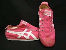 Women's Onitsuka Tiger Size 8 Mexico 66 Pink Slip On Sneakers Throwback Retro