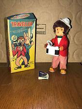 Vintage 1950's Traveller Monkey with Camera Clockwork Wind Up Alps Toys Japan