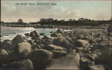 Rockport MA Old Garden Beach Homes in Distance c1910 Postcard