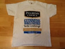 RARE . PILGRIMS CHOICE ADVERTISING T SHIRT LARGE  GUINNESS WORLD RECORD 20/02/13