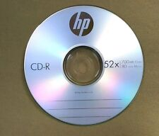 15 52X HP Logo Blank CD-R CDR Recordable Disc 80Min/700MB with Paper Sleeves