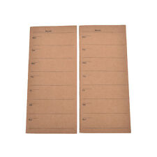 24 Sheets Kraft Cover Weekly Planner Paper Notebook Note Simple Design Office TB