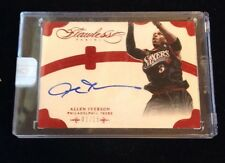 ALLEN IVERSON 2013-14 Panini Flawless Ruby Autograph 1/15 ENCASED!! EBAY 1/1