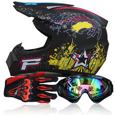S-XL Adult Motocross Safe Gear Guard Motorcycle Off-Road Racing Full Face Helmet