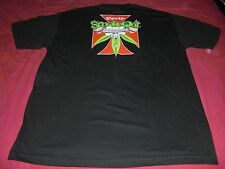 vintage CYPRESS HILL 5th SMOKE-OUT SKULL & IRON CROSS 2002 Concert Shirt nos L