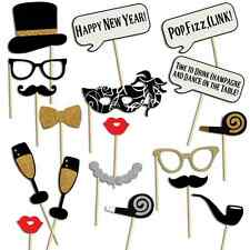 New Year Christmas Photo Booth Props, 18 pcs, NO DIY NEEDED, Design 2017, USA