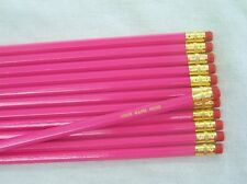 "24 Hexagon ""Deep Pink"" Personalized Pencils"