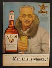 "1955 Grancel Fitz Big Game Hunter ""Imperial"" Hiram Walker's Blended Whiskey AD"