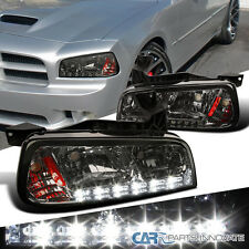 2006-2010 Dodge Charger Smoke SMD LED DRL 1PC Headlights Corner Signal Lamps