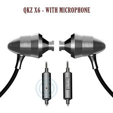 QKZ X6 Metal Version Linear HIFI Fever Earplugs In-ear Headphones