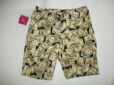 LOUDMOUTH Ladies GOLF Stretch Cotton MONEY Bermuda SHORTS Womens Size 0  NEW