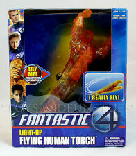 NEW - Light-Up FLYING HUMAN TORCH - Fantastic 4 Ceiling Flyer TOY BIZ 2005