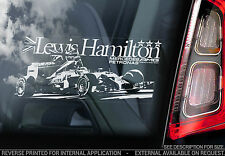 Lewis Hamilton - Car Window Sticker - Mercedes Formula 1 F1 Team Gift Art - TYP1