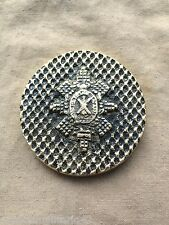 Excellent Vintage British Army Black Watch Regimental Brass Paper Weight