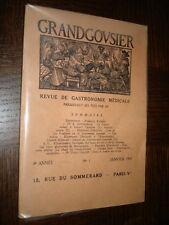 GRANDGOUSIER - Revue de gastronomie médicale - N°1 - Janvier 1937 - 4e année