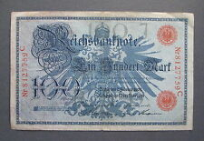 1908  Germany  Reichsbanknote 100 Mark- * No Reserve * - (L320)