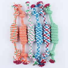 Hot Lovely Cotton Braided Bone Rope Puppy Dog Pet Chew Knot Toy Random Color